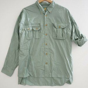 Cabelas Mens Button Up Shirt Fishing Outdoor Cotto